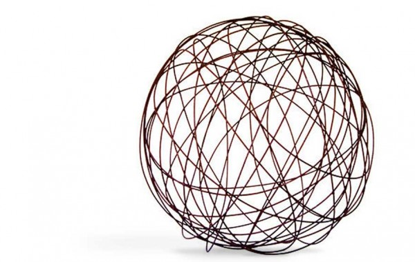 Wire Ball Garden Sculpture